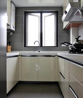 台面整体门橱柜简约壁柜简洁自然的厨房设计效果图图片