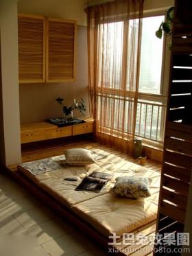 室内阳台榻榻米床装修效果图
