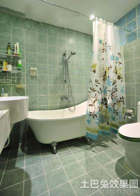 浴室浴帘装修效果图
