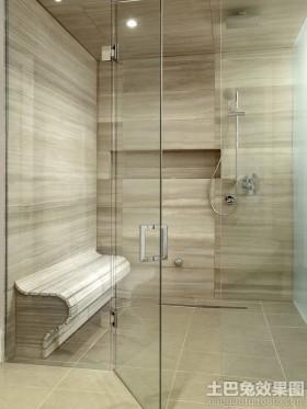 家装浴室玻璃门效果图