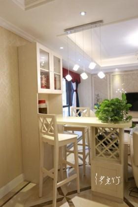 简欧式风格餐厅吧台装修效果图