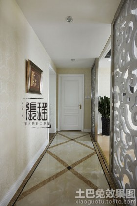 欧式家装过道地板砖效果图图片