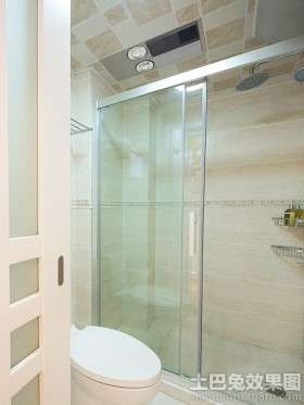 卫生间玻璃门隔断效果图大全