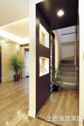 楼梯间隔断墙设计效果图