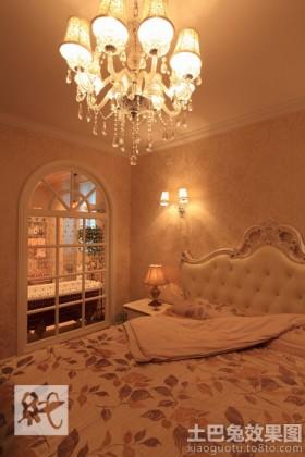 欧式卧室水晶吊灯图片