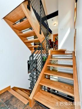 复式楼实木楼梯装修效果图