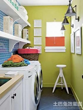 > 阳台洗衣房装修效果图图片