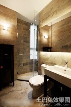 小卫生间仿古地板砖效果图