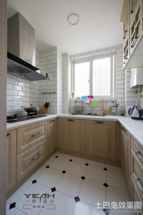 7平米家装u型厨房装修效果图