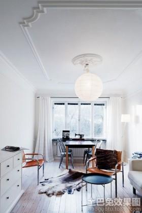 纯美北欧风格客厅吊顶装修图片.图片