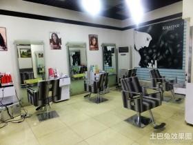现代风格小型美发店装修图图片