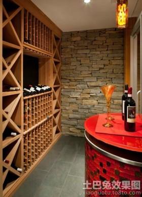 美式实木墙壁酒柜装修效果图