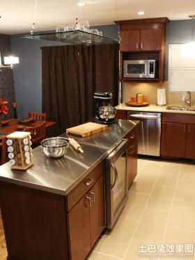 新中式厨房不锈钢台面效果图图片